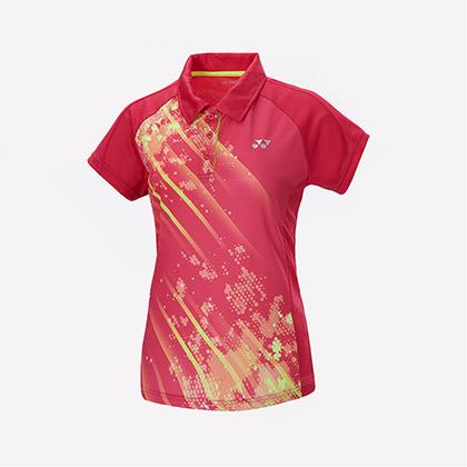 尤尼克斯YONEX 短袖T恤 210707BCR 女款 亮粉红(队服推荐)