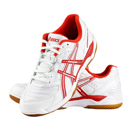 ASICS亚瑟士 乒乓球鞋B000D-0124白红色专业乒乓球运动鞋(价格实惠又专业)