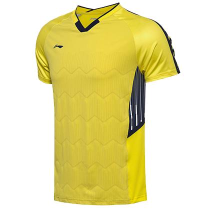 李宁比赛上衣 AAYN003-4 男款 黄色汤尤杯比赛服