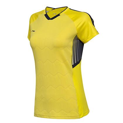 李宁比赛上衣 AAYN004-4 女款 黄色汤尤杯比赛服