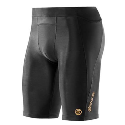 SKINS思金斯 A400 男子梯度压缩黑色五分裤 跑步健身压缩衣压缩裤 ZB99320029001
