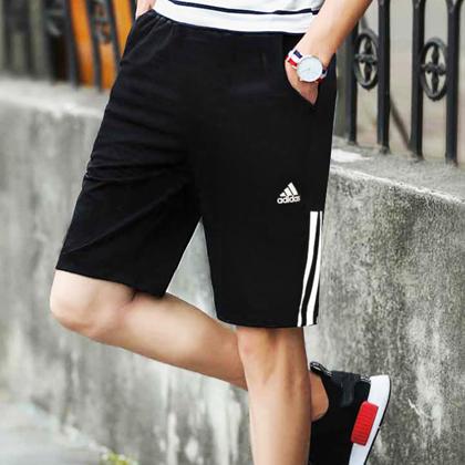 Adidas 阿迪達斯 男款運動短褲 五分褲 D84687 黑色(柔軟舒適,速干透氣)