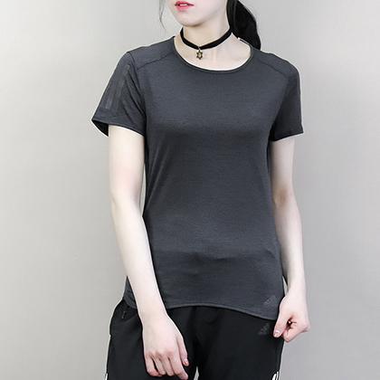 Adidas 阿迪达斯 女款运动T恤 短袖上衣 CW3312 黑色(柔软舒适,排汗透气)