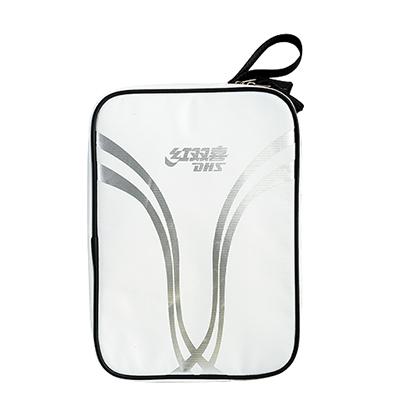 红双喜DHS乒乓球单拍套 RC531犀牛技术面料方形拍套 白色 新款上市!
