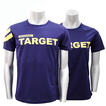 三维SANWEI 男款乒乓球T恤 比赛队服 深蓝色