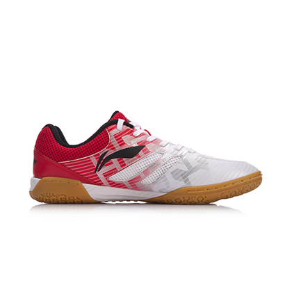 李宁乒乓球鞋 APPM003-1 男款 白红色 龙鳞战靴 马龙款 国家队赞助装备世锦赛男子乒乓球专业鞋