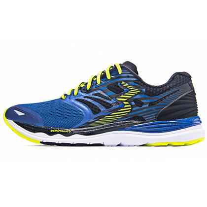 361°国际版跑步鞋 361-MERAKI 男款缓震跑鞋 Y803-2 炫彩蓝/黑色(轻量透气,缓震支撑)