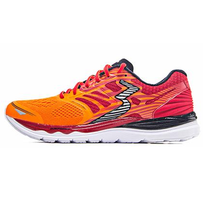 361°国际版跑步鞋 361-MERAKI 男款缓震跑鞋 Y803-4 亮橘色/警示红(轻量透气,缓震支撑)