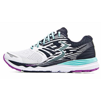 361°国际版跑步鞋 361-MERAKI 女款缓震跑鞋 Y853-1 白色/黑色(轻量透气,缓震支撑)