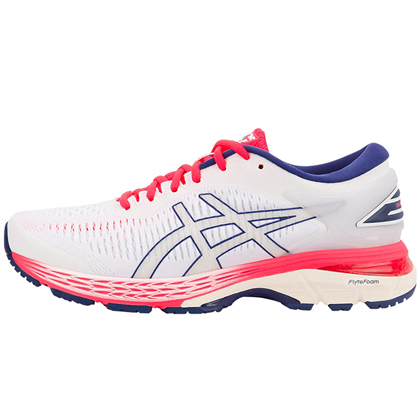 ASICS亚瑟士 GEL-KAYANO25 稳定慢跑鞋 女款K25跑步鞋 1012A026 白色(新品尝鲜)