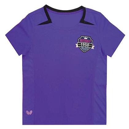 蝴蝶 Butterfly 儿童乒乓球短袖 CHD-802-15 紫色