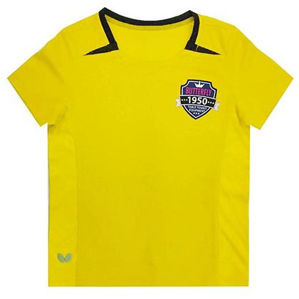 蝴蝶Butterfly 儿童乒乓球短袖 CHD-802-11 黄色