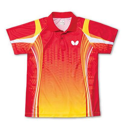蝴蝶Butterfly BWH266-0111红黄色乒乓球运动T恤