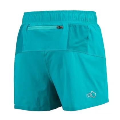 UTO悠途 女款专业跑步短裤 锐能款二合一压缩短裤2.0 987207 蓝绿(分区压缩,排汗透气)