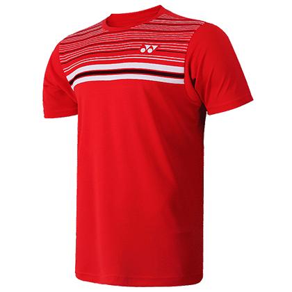 尤尼克斯YONEX T恤衫 16347-496 男款 红色 (全英公开赛明星同款T恤衫)