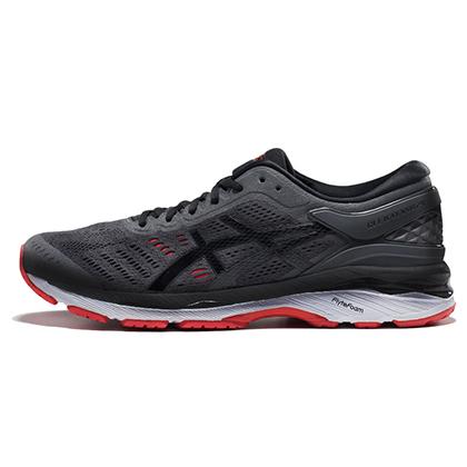 亚瑟士ASICS跑步鞋 K24男款跑鞋GEL-KAYANO 24 T749N-9590 灰色/黑色(跑鞋之王,稳定支撑)