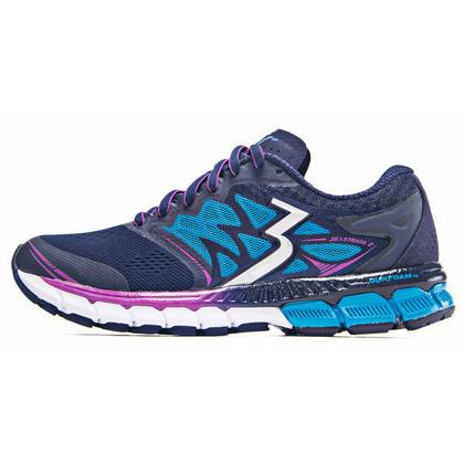 361°国际版跑步鞋 361-STRATA 2女款慢跑鞋 Y851-1 深蓝/紫色(轻量透气,缓震支撑)