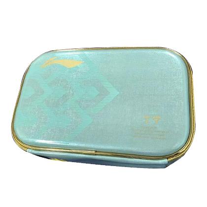 李宁 ABJN108-1 乒乓球方拍包双层 湖蓝色