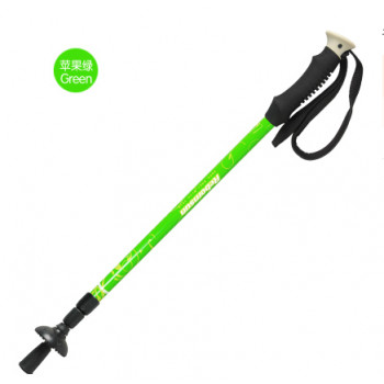 鲁滨逊碳素伸缩三节超轻登山杖徒步手杖拐杖 苹果绿