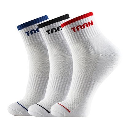 泰昂TAAN运动袜 T-342 男款 中帮 加厚毛巾底