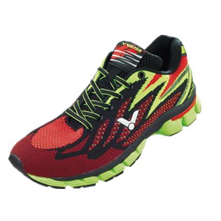 胜利VICTOR 跑步鞋 SH-R700DE 红/荧光黄 防滑耐磨轻便舒适男女同款