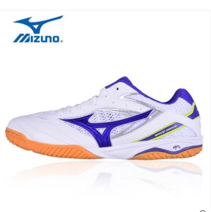 美津浓Mizuno 乒乓球鞋 81GA170567 白紫款专业乒乓球鞋WAVE DRIVE8,透气轻量运动鞋