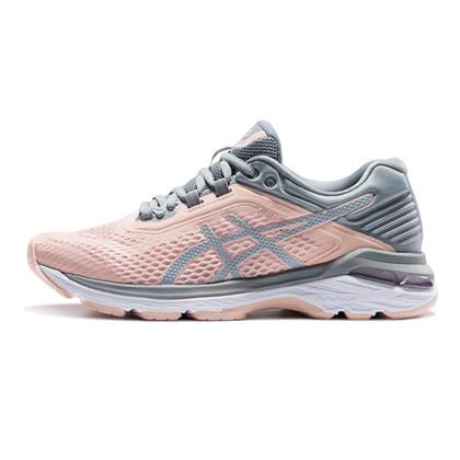 ASICS亚瑟士稳定跑步鞋女鞋GT-2000 6透气运动鞋跑鞋T855N-7A04粉/灰