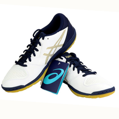 亚瑟士ASICS 专业乒乓球运动鞋 1073A001-100 白蓝色 经典白蓝 超透气 超舒适
