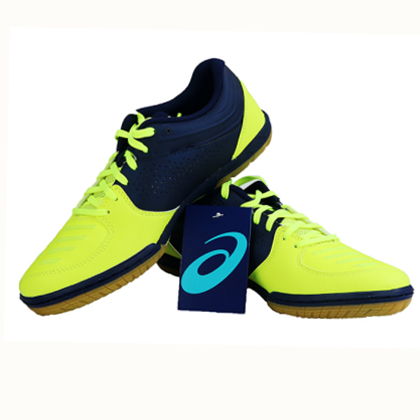 亚瑟士ASICS 专业乒乓球鞋 1073A002-750 锃黄靓蓝