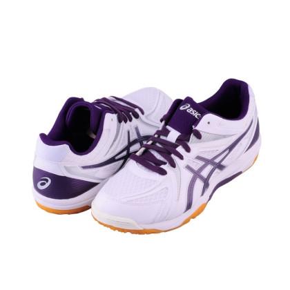 亚瑟士(asics)乒乓球鞋男款ATTACK SP 3 室内运动休闲鞋男女款TPA333 0133白色/紫色