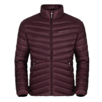 HIGHROCK天石冬季户外运动短款轻薄羽绒服 鹅绒衣男款V006 酒红色
