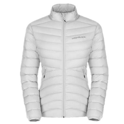 HIGHROCK天石冬季户外运动短款轻薄羽绒服 鹅绒衣女款V006 灰白色
