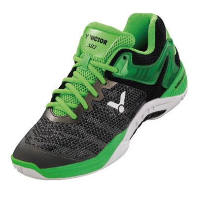 Victor 胜利羽毛球鞋 S81 CG 黑/荧光绿(韩国、马来西亚国家队指定装备)