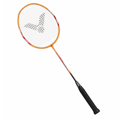 胜利VICTOR羽毛球拍 亮剑1900E(BRS1900E)黄色 已穿线带线成品拍 入门初学业余训练儿童学球速度型球拍新王者