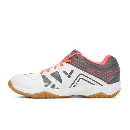 胜利VICTOR羽毛球鞋 SHA500AH 白/灰 宽楦 4E设计