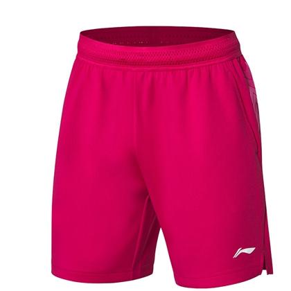 李宁运动短裤 AAPP029-3 男款 新海棠红 全英公开赛比赛短裤