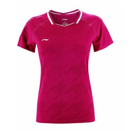 李宁比赛上衣 AAYP028-3 女款 新海棠红 全英大赛服