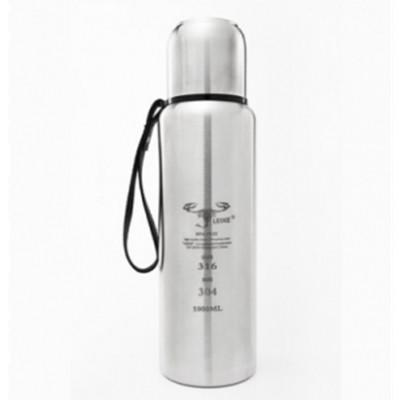 LEIXE雷蝎户外双层真空设计,保温又保冷不锈钢水壶500ML