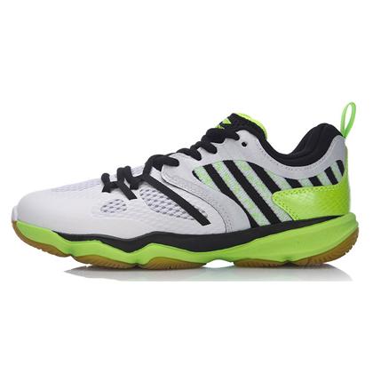 李宁羽毛球鞋 AYTM074-4 Ranger TD 女款 标准白/荧光粉绿,TD版变色龙,简约时尚!