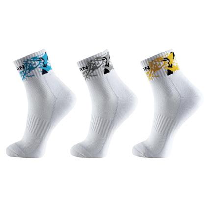 泰昂羽毛球袜 T-309 男款中袜厚款专业运动袜