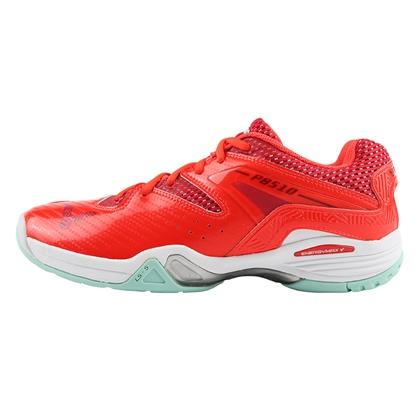 VICTOR 羽毛球鞋 P8510DA 鲜红/亮白 脚感扎实 支撑稳定