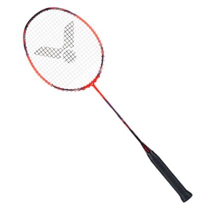 勝利VICTOR羽毛球拍 JS-11D(極速11D)巖漿紅(疾勁能量弓,薄翼拍框)