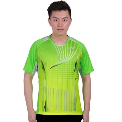 尤尼克斯YONEX羽毛球服 110107BCR 短袖T恤 男款绿色 速干排汗