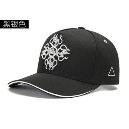 GC岗措 喜马拉雅文化原创品牌棒球帽 十字金刚杵系列 黑布银标包黑边 手工制作户外帽子棒球帽!