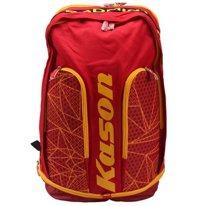 凯胜KASON 羽毛球包 FBSL008-2 红黄 双肩羽毛球包 双肩男女双肩运动 旅行包 休闲包