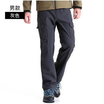 Clothin(卡鲁森)户外软壳冲锋裤防水防风冬季抓绒裤滑雪登山长裤