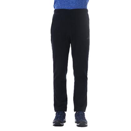 户外抓绒裤男加厚摇粒绒裤子抓绒运动裤秋冬长裤保暖舒适抓绒裤 男款黑色