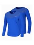 【2折爆品】波力BONNY 秋冬长袖比赛服 1CTL16092/1CTM16092 长款羽毛球服 圆领长袖T恤 蓝色