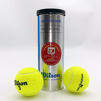 wilson维尔胜正品网球澳网用球 耐用弹性好全能网球1罐3个