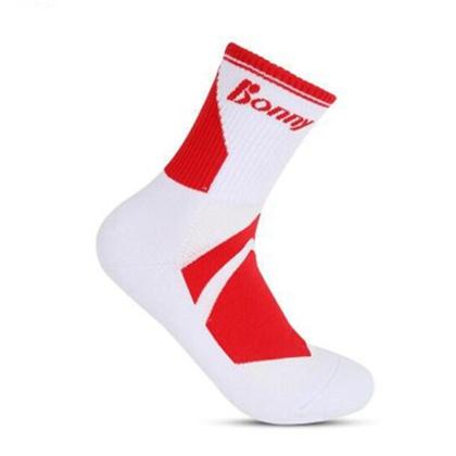 波力BONNY羽毛球袜 SK-61 专业竞赛袜 (三双装) 防滑耐磨 休闲比赛训练运动袜